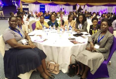 Women leaders at a recent conference on GBV